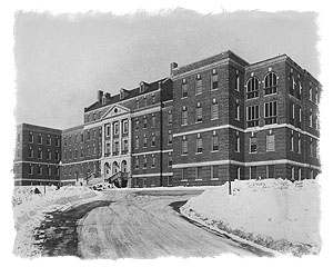Photo of Veterans Administration Hospital located on 12th ave. in Salt Lake City.  Date of photo is early 1930s, just prior to the advent of the New Deal.