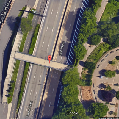 81st St. Pedestrian Bridge, Aerial View