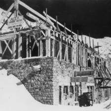 CCC shelter (later SnowpineLodge) under construction, c 1938 - Alta UT