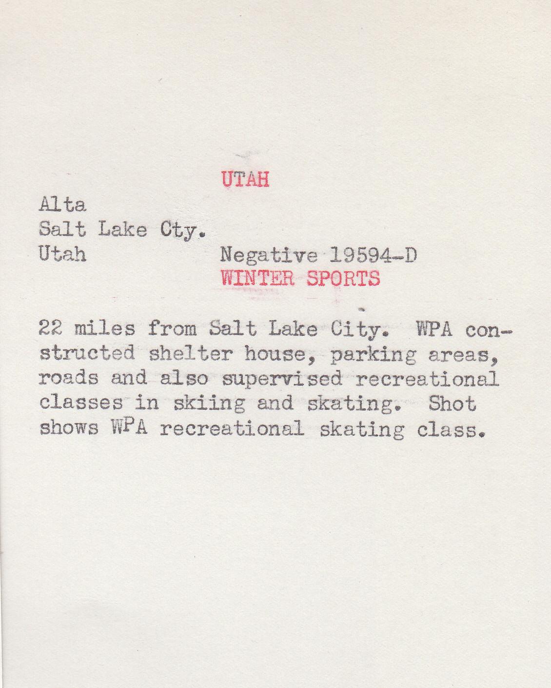 WPA Record detail