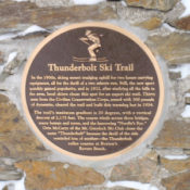 Plaque at a warming hut built by the CCC.