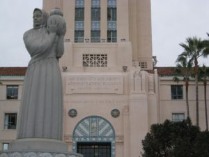 Donal Hord, Guardian of the Water, Fountain Sculpture, San Diego County Administration Building