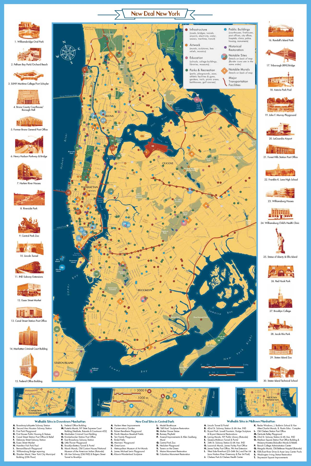 New York City Map And Guide Living New Deal - Nyc map