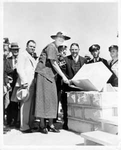 In 1937, first lady Eleanor Roosevelt helped lay the cornerstone for WPA project in Montgomery County, Kentucky.