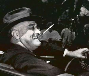 FDR with cigarette
