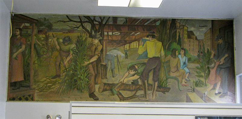 Jackson Heights Station Post fice Mural Flushing NY Living