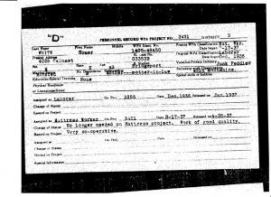 WPA Personnel Record, 1936, Past work experience: Moonshiner