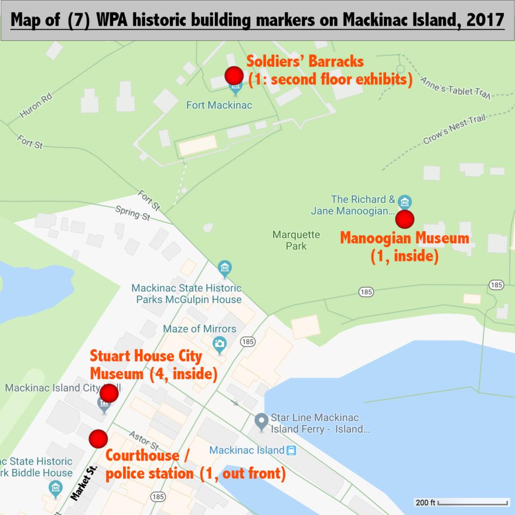 Wpa Historic Markers Mackinac Island Mi Living New Deal