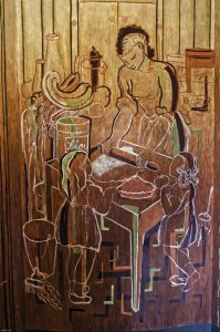 """Home Life,"" 1934, Coit Tower Mural by Jane Berlandina"