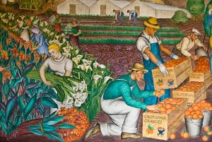 "Detail, ""California"" 1934, Coit Tower Mural by Maxine Albro"