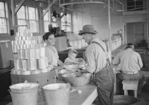 Canning Workshop. A Dyess Colony cooperative project for Arkansas farmers during the Depression.