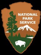 NPS logo, Maier imprint on the Park Service includes the design of the arrowhead logo.