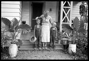 Porch at Dyess Colony, 1940