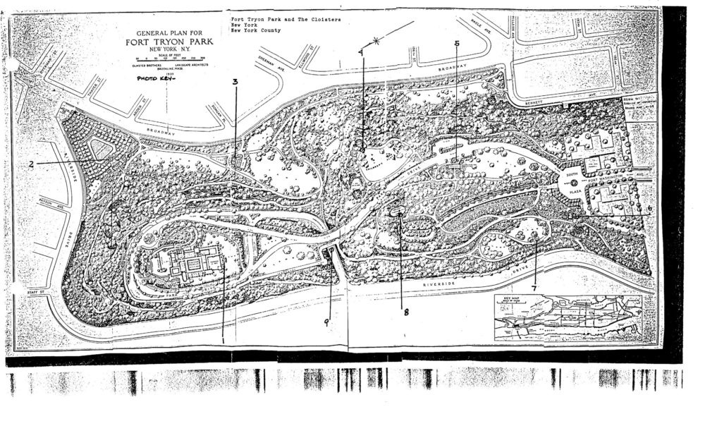 Fort Tryon Park Map Fort Tryon Park   New York NY   Living New Deal Fort Tryon Park Map