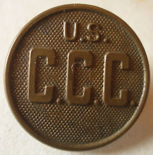 Brass Button, Collar button from CCC uniform