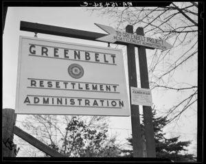 Greenbelt sign, 1937