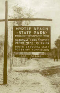 CCC Sign, Myrtle Beach State Park, South Carolina