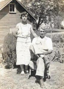 Leora and Clabe Wilson, Dexter, Iowa, July 22, 1934.