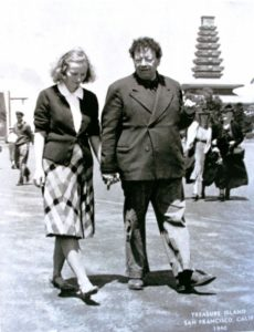 Artist Diego Rivera and Assistant Emmy Lou Packard