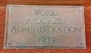 Commemorative WPA Plaque, Dexter Library
