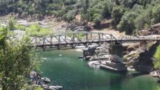 Ponderosa Way Bridge crossing the North Fork of the American River Placer County, California.