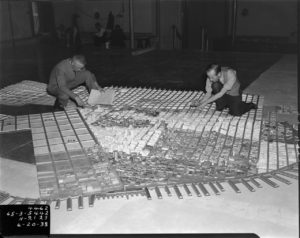 WPA Workers Putting together the scale model, 1938