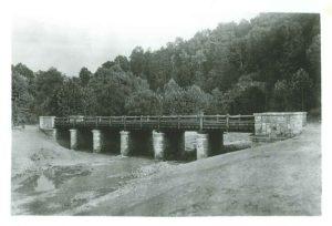 Mackletree Road Bridge, Shawnee State Park, c 1934