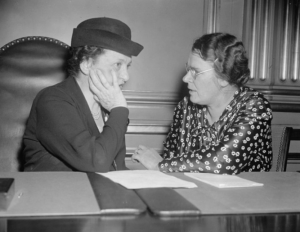 Frances Perkins and Clara Beyer