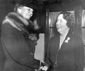 First Lady Eleanor Roosevelt and Ellen Woodward, 1938