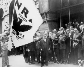 Raising the New Deal Flag in New York City