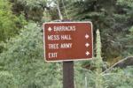 Sign at Granite Flat Campground, Timpanogos Cave NM - Mt Timpanogos UT