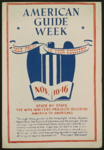 Poster for American Guide Week
