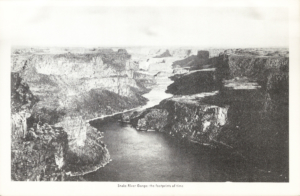 "Snake River Gorge from ""Idaho: A Guide in Word and Picture,"" 1937"
