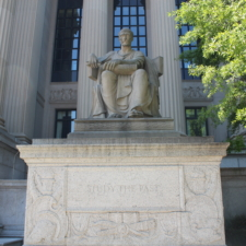 Statue in front ofNational Archives building - Washington DC