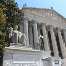 Facade,National Archives building - Washington DC