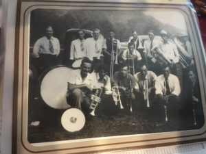 Keepsake, Resident's photograph of the community band in Dailey, West Virginia.