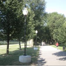 Lighting along pathways, National Mall - Washington DC