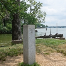 Mile marker 0 (behind Thompson's Boat House) where C&O Canal meets the Potomac - Washington DC