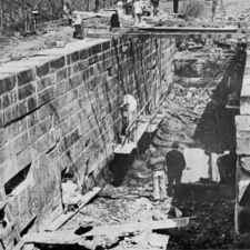 CCC workers at lock 22 of C&O Canal - Seneca MD