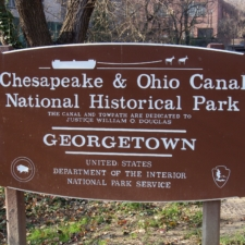 C&O Canal Historic Park sign in Georgetown - Washington DC