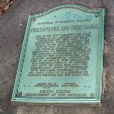 Historic marker, C&O Canal - Washington DC