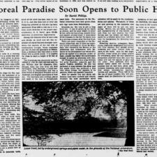 Opening of National Arboretum, Evening Star, 1941
