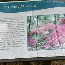 Information sign atNational Arboretum - Washington DC