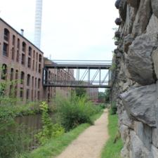 Towpath along urban stretch of C&O canal - Washington DC