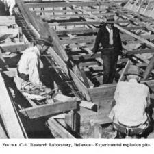 Explosion pits under construction, Naval Research laboratory - Washington DC