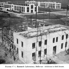Field house under construction, Naval Research laboratory - Washington DC