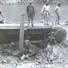 Black CCC enrollees repairing the Widewater towpath on C&O Canal