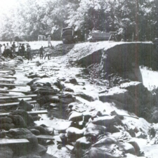Black CCC enrollees repairing the Widewater towpath along C&O Canal