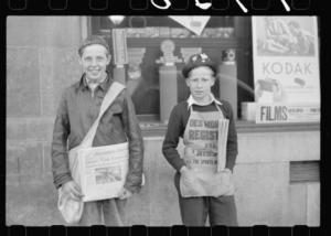 Iowa Newsboys John Vachon, 1938