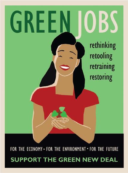 Green Jobs Illustration by Lisa Vollrath